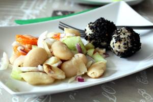 Nagy fehérbab saláta recept