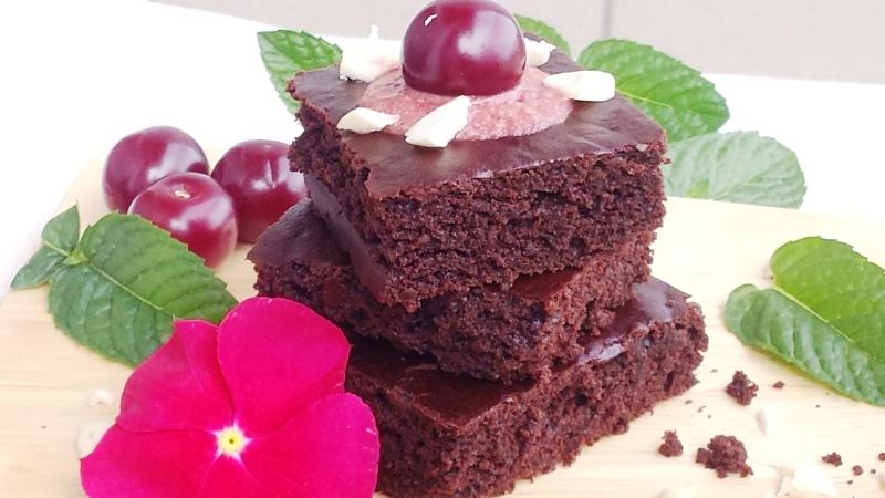 makrobiotikus céklás brownie