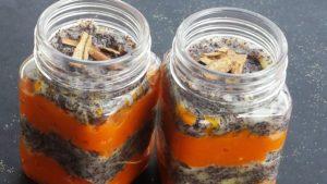 Makrobiotikus mákos-sütőtökös pohárkrém
