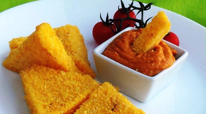 makrobiotikus rántott polenta