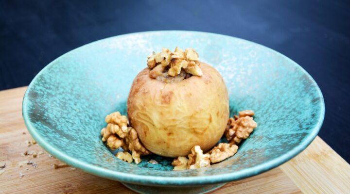 makrobiotikus töltött sült alma